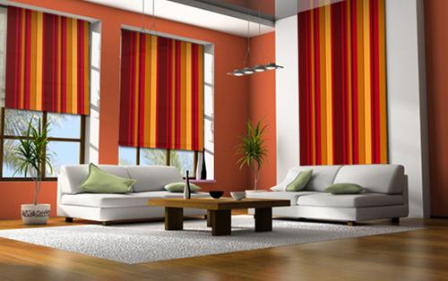 Diez ideas para decorar el living boloqui - Casa diez cortinas ...