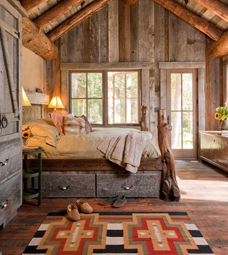 La madera en el estilo rustico1 boloqui for Decoracion de casa x dentro